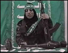 """I have two children and love them very much. But my love to see God was stronger than my love for my children.""  Reem Saleh Riyashi, was the first Hamas female suicide bomber. It later turned out that Reem was driven to the checkpoint where she murdered 4 Israelis by her Hamas lover, with whom she was having an adulterous affair."